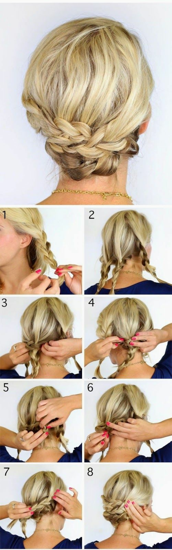 chignon-facile-a-faire-chignon-avec-tresses-cheveux-blonds