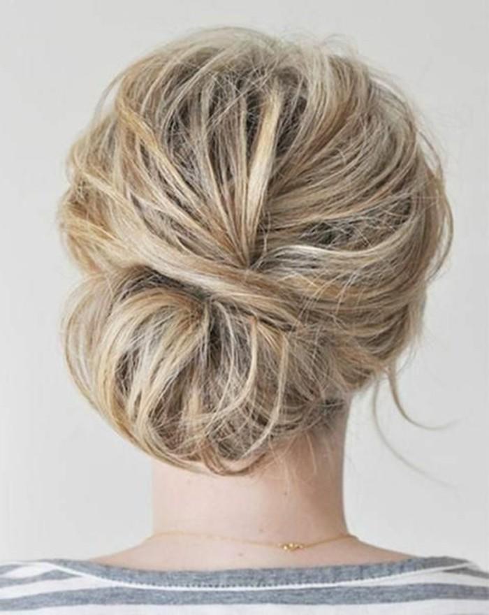 chignon-simple-idees-coiffures-simples-et-originales
