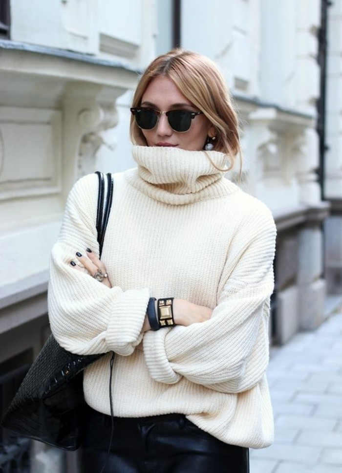 couleur-blanc-casse-pull-oversize-femme-style-chic-casual