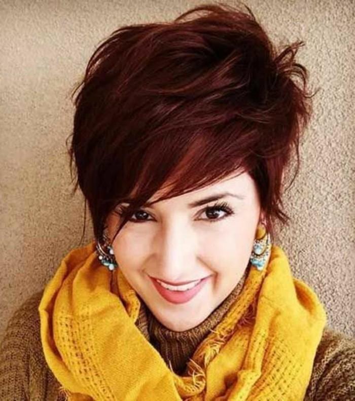 Quelle coupe de cheveux asym trique pour sublimer votre visage - Coupe courte couleur cuivre ...