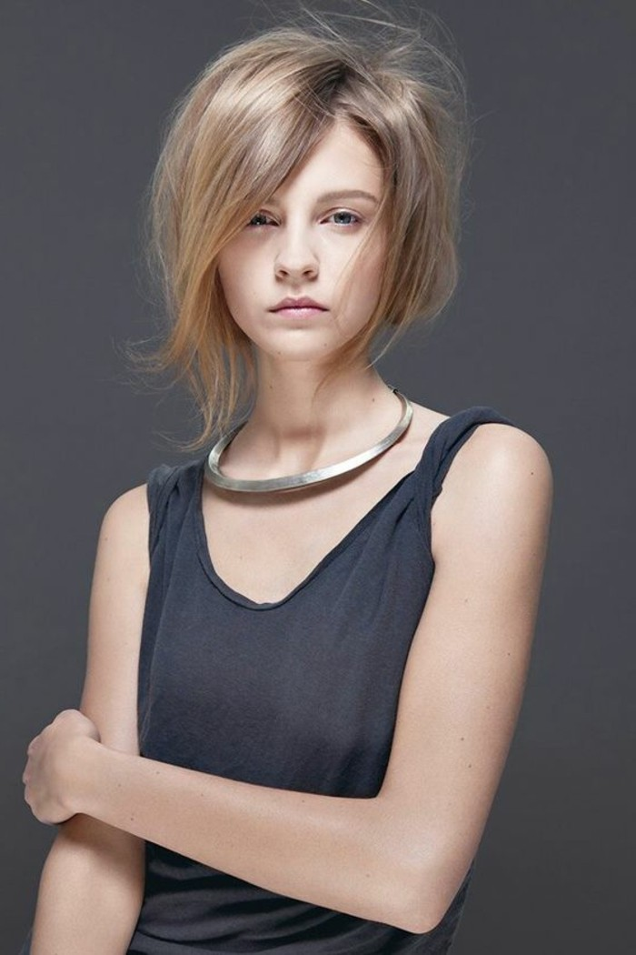 Quelle coupe de cheveux asym trique pour sublimer votre visage - Coupe destructuree mi long ...