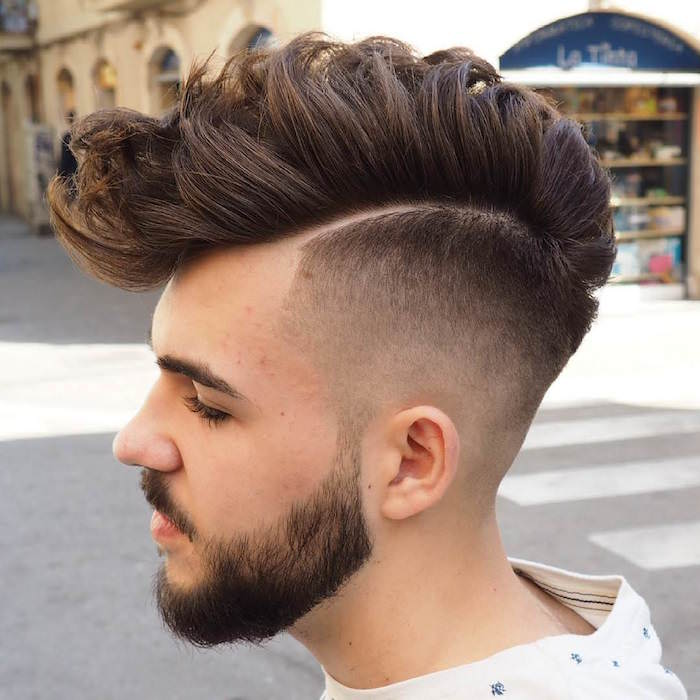 coupe,cheveux,epais,hipster,degrade,homme,long,dessus,