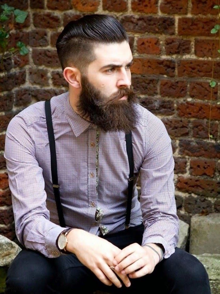 En haut coupe de cheveux homme barbe #QP_03
