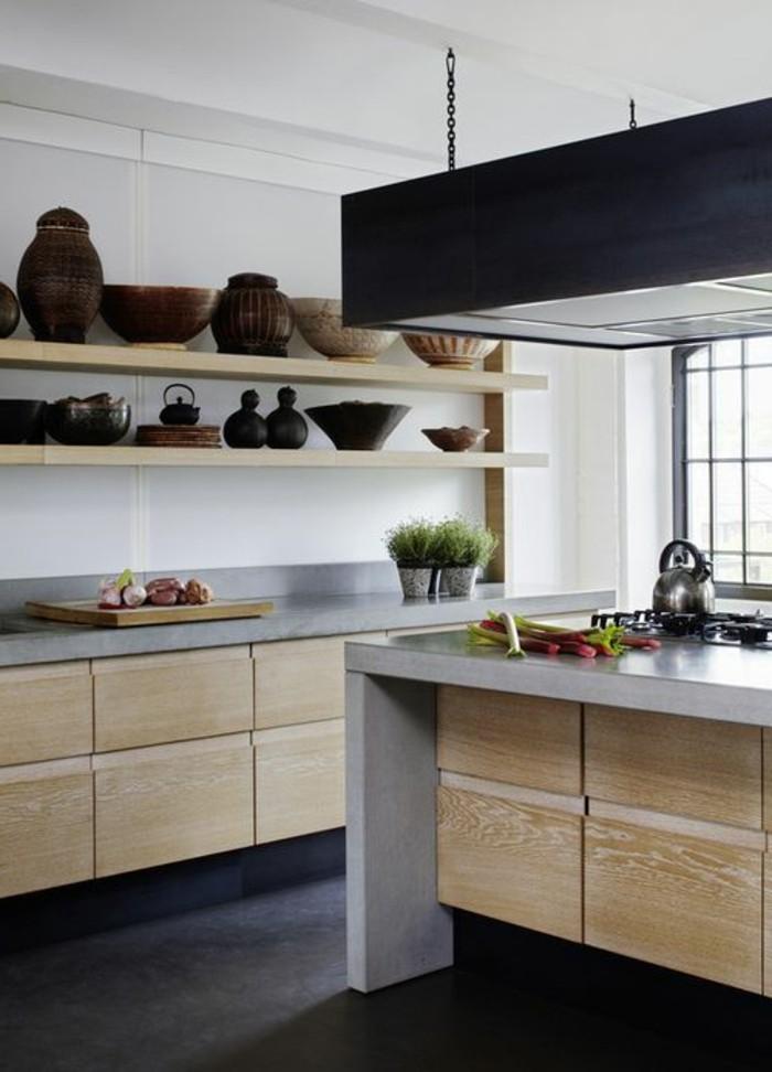 cuisine-equipee-avec-ilot-central-etageres-en-bois-ilot-central-cuisine