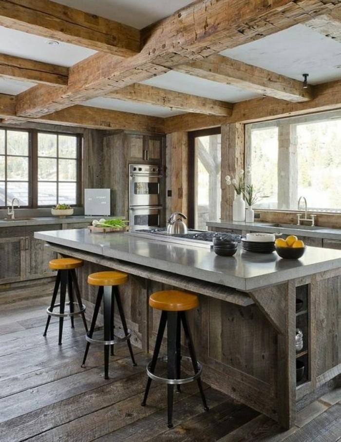 La cuisine quip e avec ilot central 66 id es en photos for Les plus beaux ilots de cuisine versailles