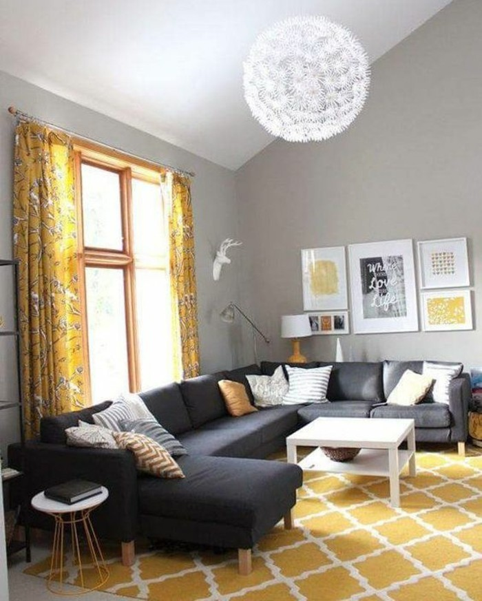 La couleur jaune moutarde nouvelle tendance dans l 39 int rieur maison for Photos deco salon