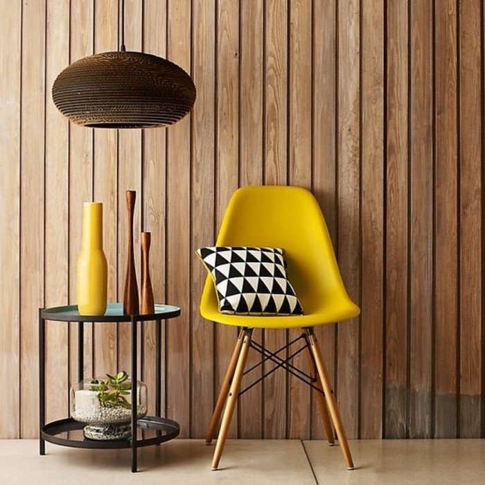 La couleur jaune moutarde nouvelle tendance dans l  : decor maison jaune moutarde chaise scandinave from archzine.fr size 700 x 700 jpeg 115kB