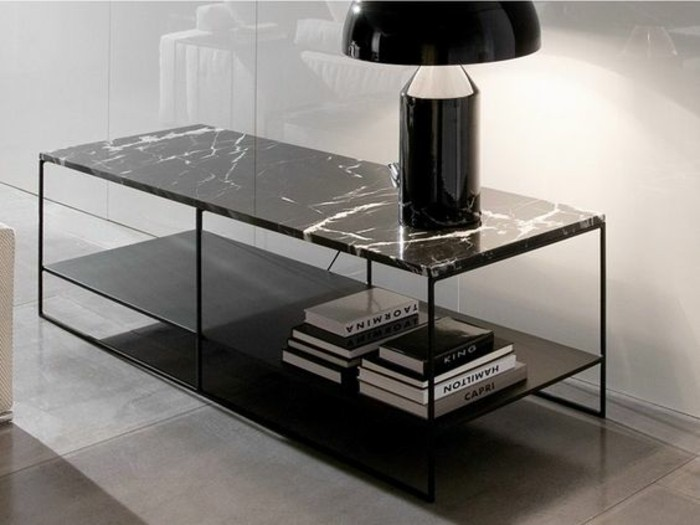 table basse en marbre 58 id es pour donner du style au. Black Bedroom Furniture Sets. Home Design Ideas