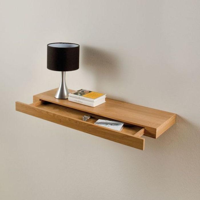 etagere-flottante-table-murale-tiroir-fixation-invisible