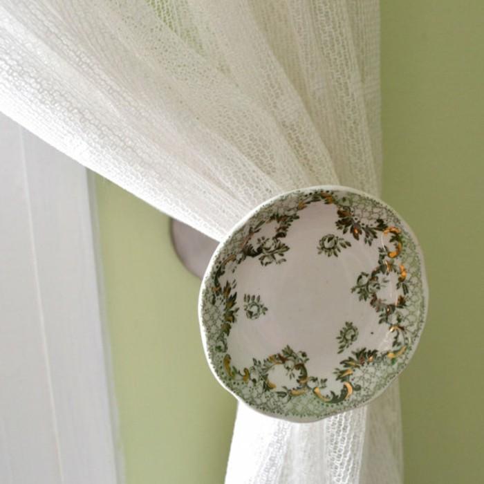 embrasse-rideau-motif-plat-de-porcelaine-anglais