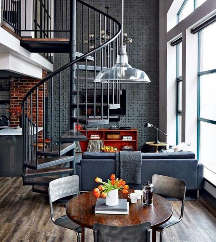 escalier-modulaire-design-tournant-appartement-style-industriel