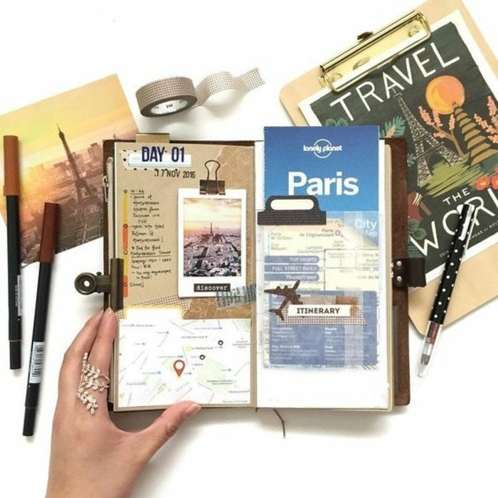 Journal Foto And Wallpaper Building: Comment Faire Un Carnet De Voyage? Idées Inspirantes En 60