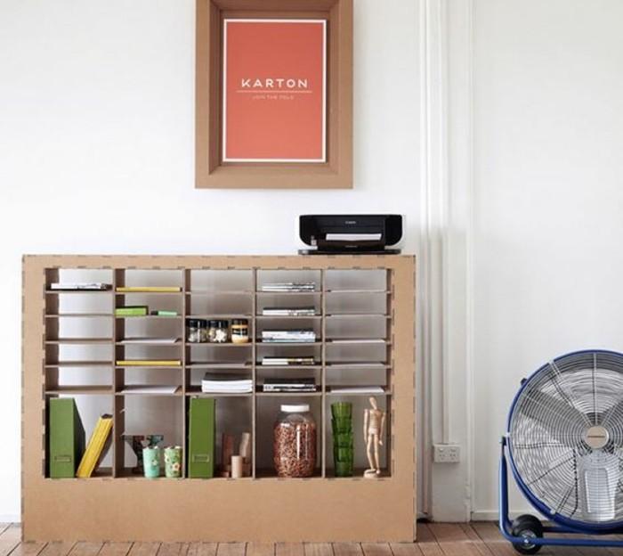 Meuble en carton 60 id es que vous pouvez r aliser vous - Fabriquer un meuble tv industriel ...