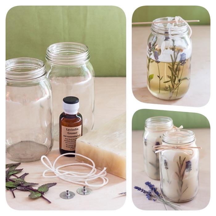 comment faire une bougie dans pot en verre, idée cadeau fait main pour maman ou pour noel avec cire et fleurs séchées