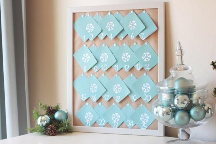 idée pour fabriquer un calendrier de l avent original, petites cartes ...