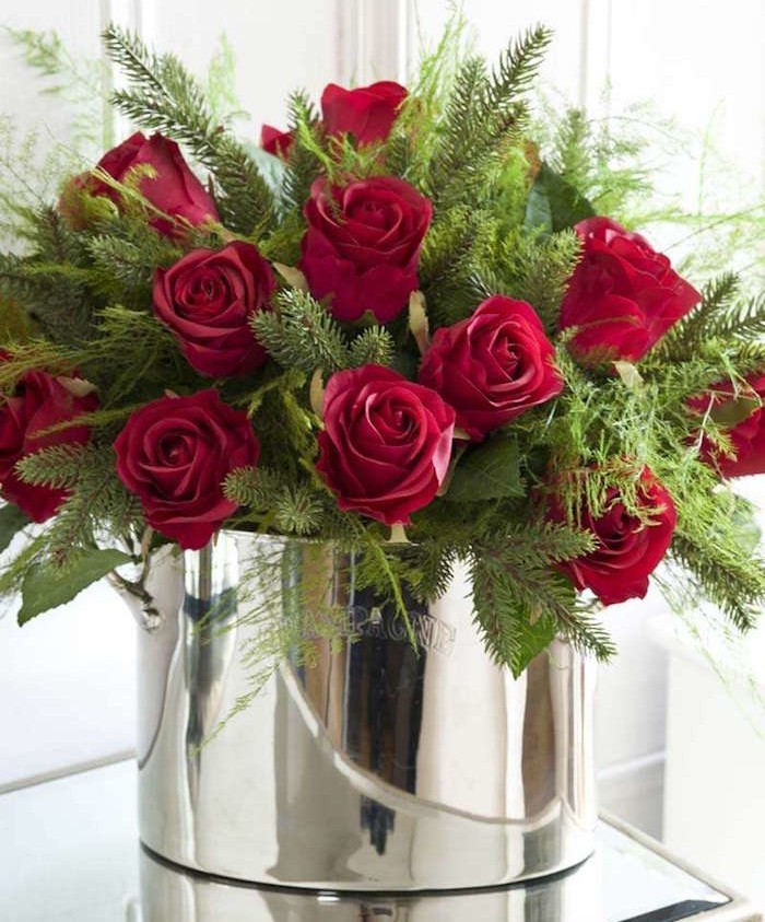 fausse-plante-bouquet-rose-artificielle-red-roses-saut-champagne-artificielle-artificiel-vegetal