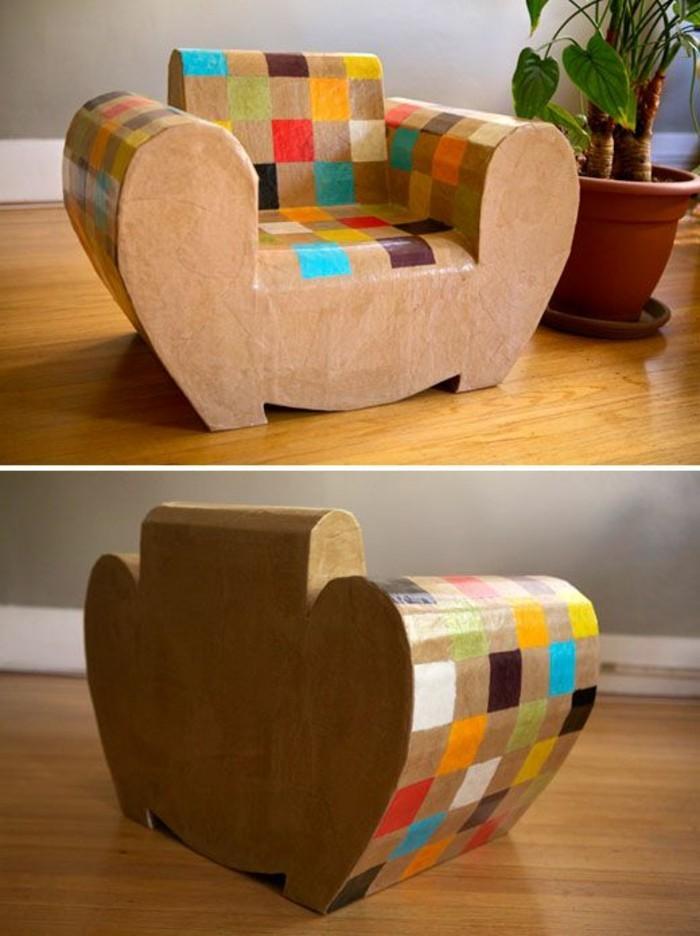 fauteuil-en-carton-sympa-decore-de-couleurs-diverses-un-meuble-diy-design-et-elegant