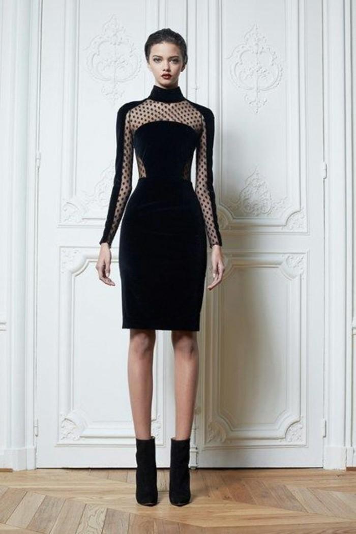 Adopter la robe en velours les top 10 mod les styl s porter - Robe de chambre noir femme ...