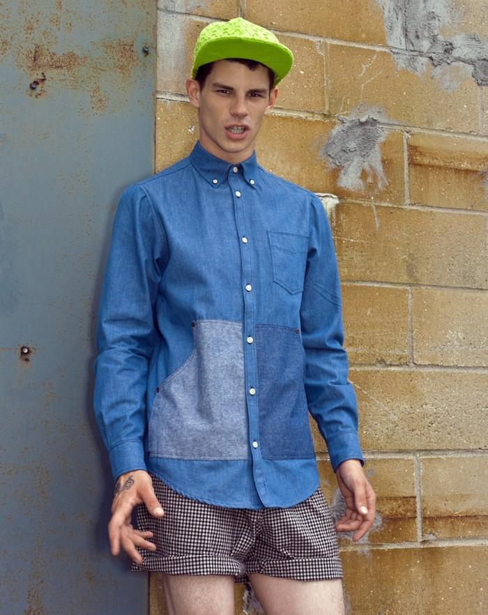hipster-fashion-mode-ete-casquette-fluo-vintage-chemise-jean-short-carreaux-court-tatouages