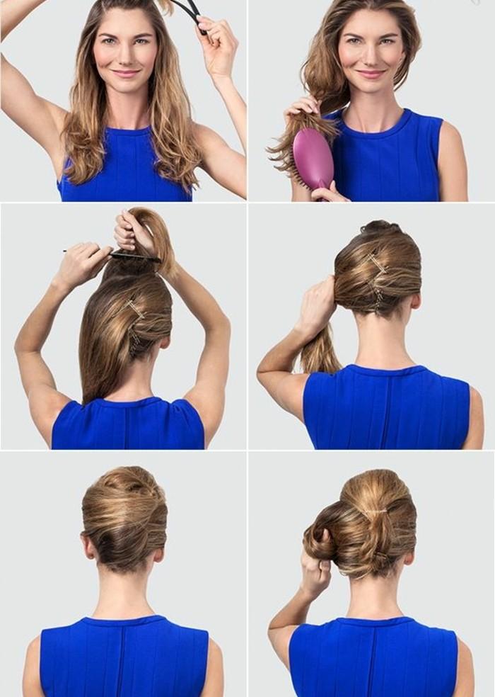 chignon-facile-à-faire-coiffure-facile-et-originale
