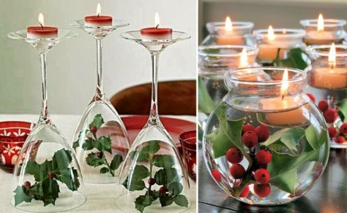 D coration de no l fabriquer soi m me 87 id es diy faciles r aliser - Deco table de noel a faire ...