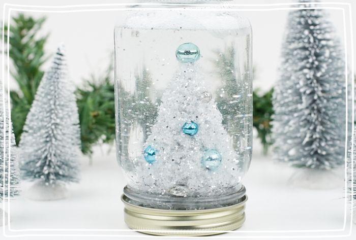 idée comment faire un boule à neige maison décoration de noel à fabriquer soi meme et cadeau de noel original