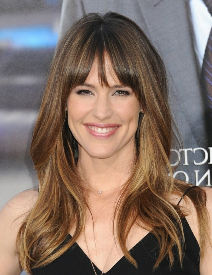 Nifty Celebrity Hairstyles Long Hair With Bangs - Dodies