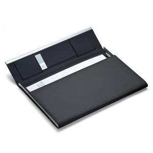Cadeau personnalisé - porte-documents cuir gravé au design élégant et intemporel
