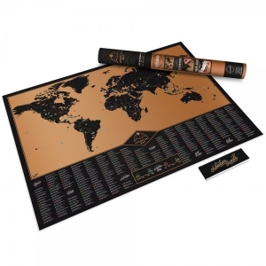 Carte du monde à gratter - cadeau à offrir à celui avec lequel vous aimez voyager