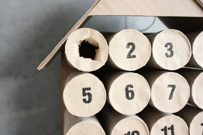 idee-tres-originale-de-calendrier-de-l-avent-simple-a-fabriquer-recyclage-de-rouleaux-de-toilette