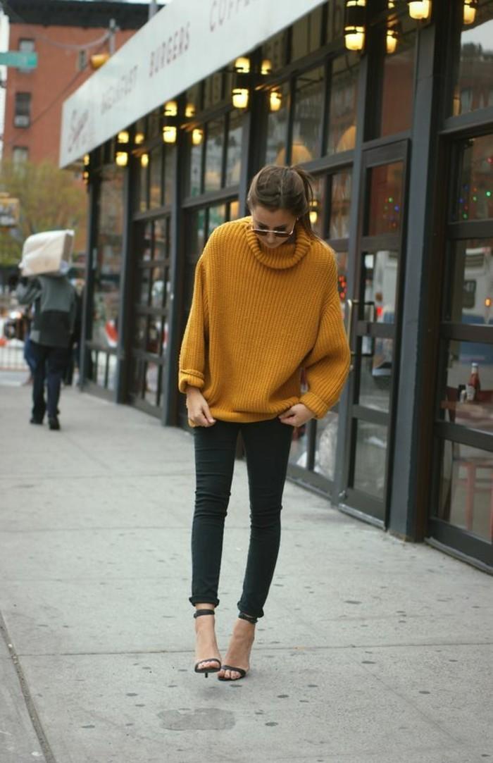 jaune-moutarde-pull-en-laine-col-roule