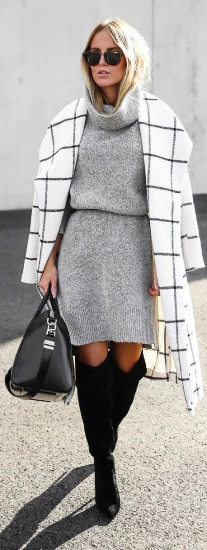 joli-manteau-bottes-cavalieres-robe-pull-col-roule-couleur-grise