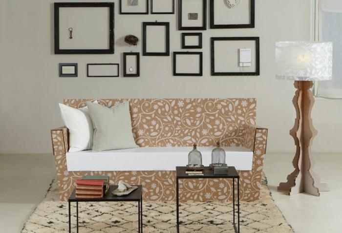 joli-mobilier-en-carton-a-faire-soi-meme-lampe-et-canape-en-carton-un-interieur-esthetique