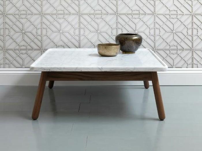 Table basse en marbre 58 id es pour donner du style au for Table basse plateau marbre