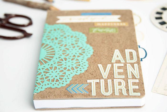 cadeau voyage simple a faire, idee carnet de voyage diy à couverture customisée, idée scrapbooking album original à offrir comme cadeau d anniversaire copine