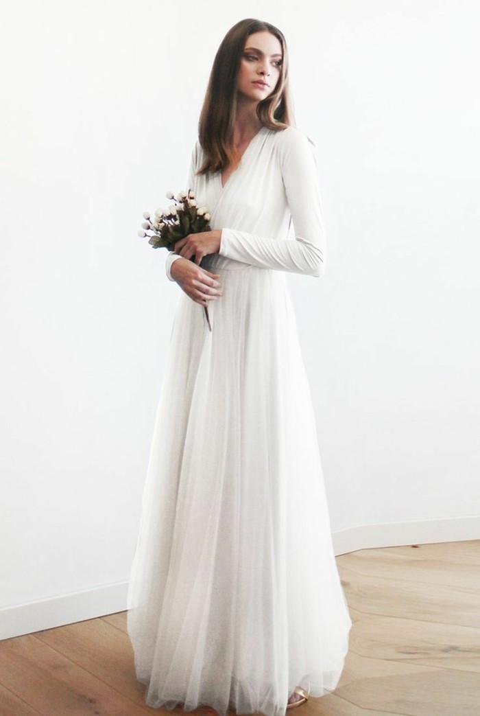 la-robe-delicat-robe-de-mariee-manche-dentelle-simple-robe-longue