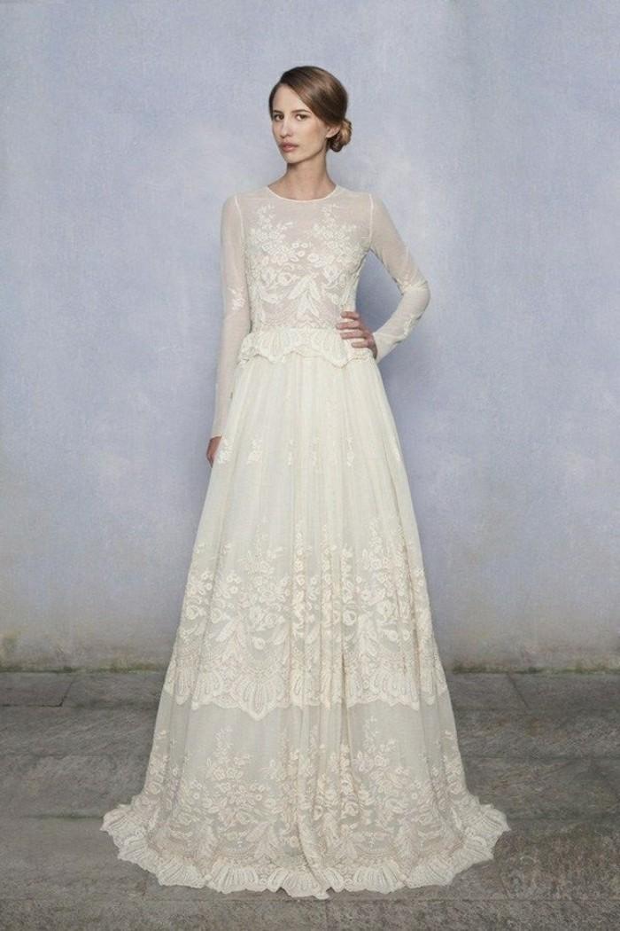 bbabf8fec9c Trouvez la meilleure robe de mariée avec manches - Archzine.fr