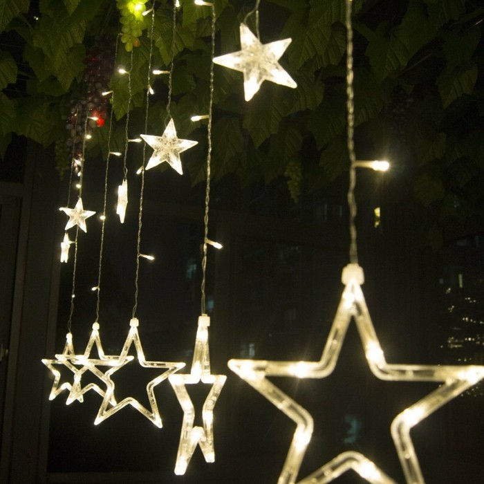 ... -etoiles-superbe-guirlande-lumineuse-chambre-idee-lumieres-originaux