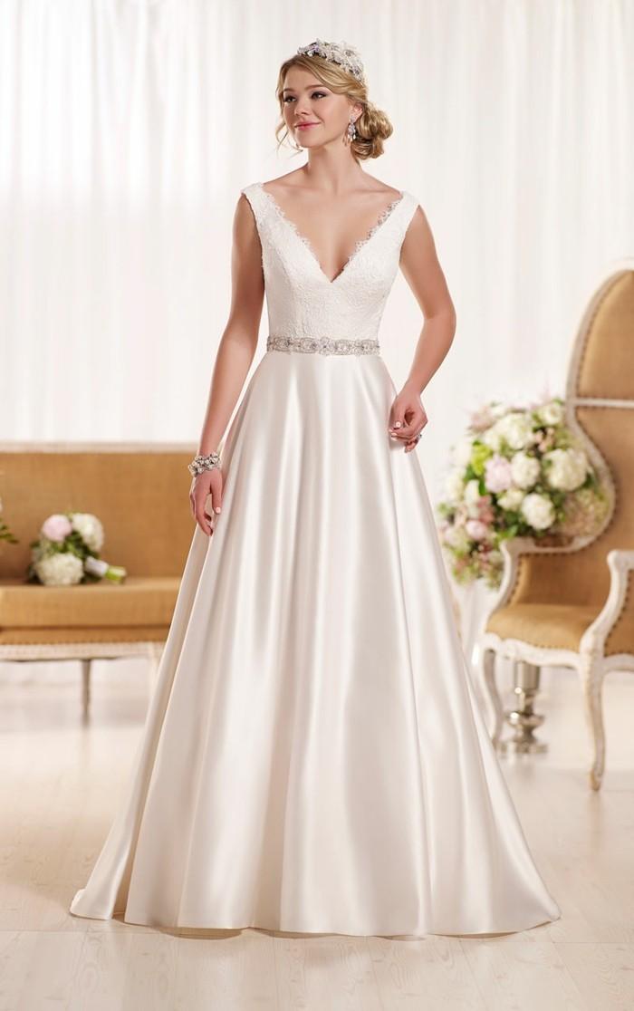 les-robe-de-mariee-simple-et-pas-cher-mariage-sans-manches-bouquet-ronde