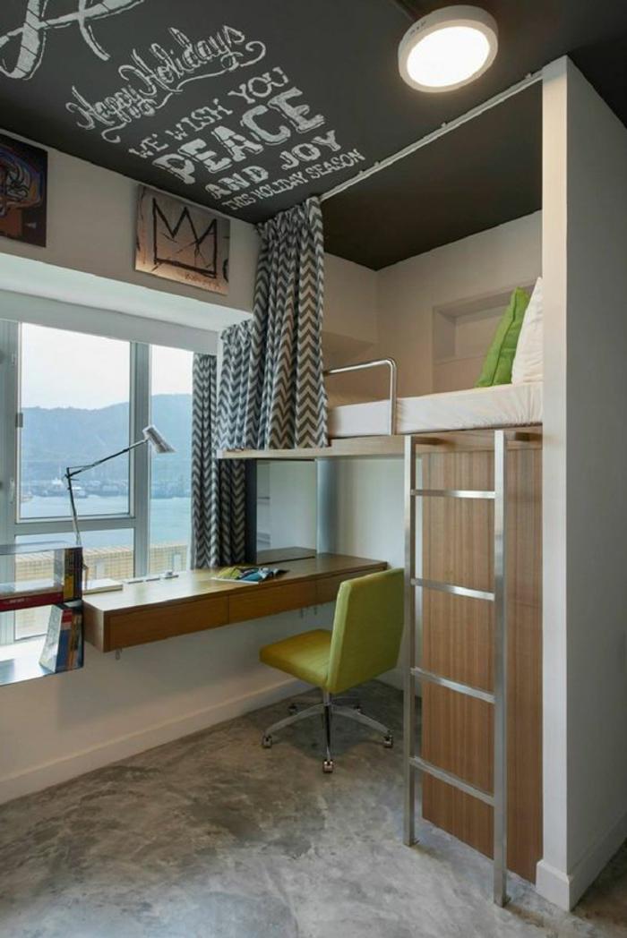 lit en hauteur avec bureau int gr les atouts ind niables illustr s en 39 photos. Black Bedroom Furniture Sets. Home Design Ideas
