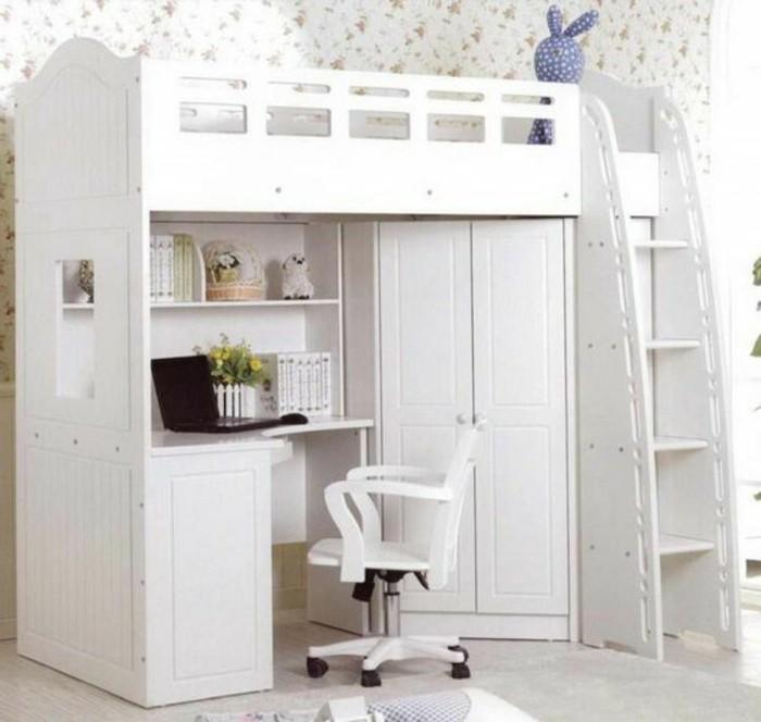 marvelous lit enfant gain de place #14: lit-en-hauteur-avec-bureau