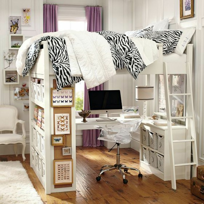 lit en hauteur avec bureau int gr les atouts ind niables illustr s en 39 photos. Black Bedroom Furniture Sets. Home Design Ideas