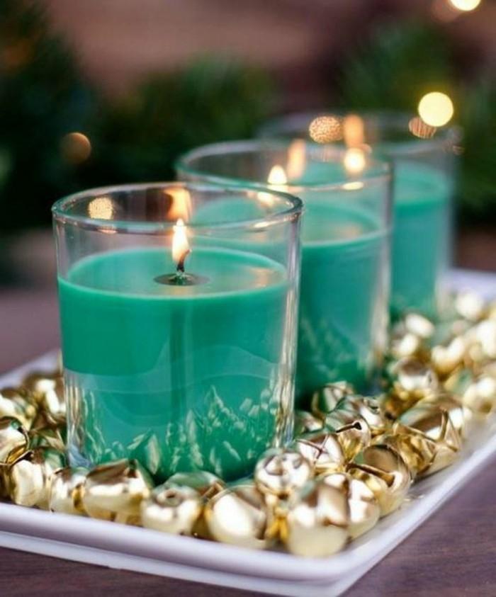 magnifique-composition-deco-noel-maison-fantastique-et-idee-geniale-comment-faire-une-bougie-cire-coloris-vert