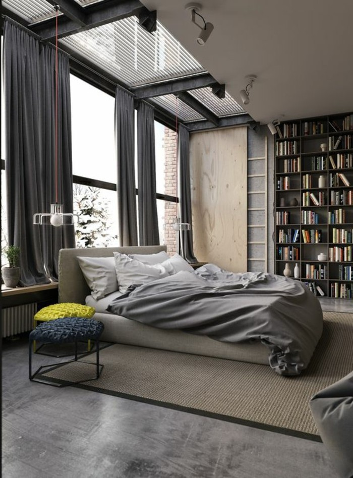 meuble-bibliotheque-contemporain-dans-la-chambre-a-coucher