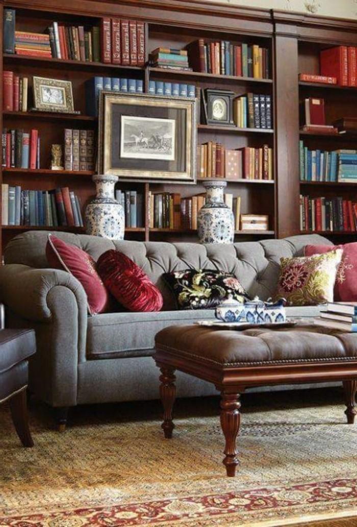 la biblioth que murale en 65 photos inspirantes. Black Bedroom Furniture Sets. Home Design Ideas