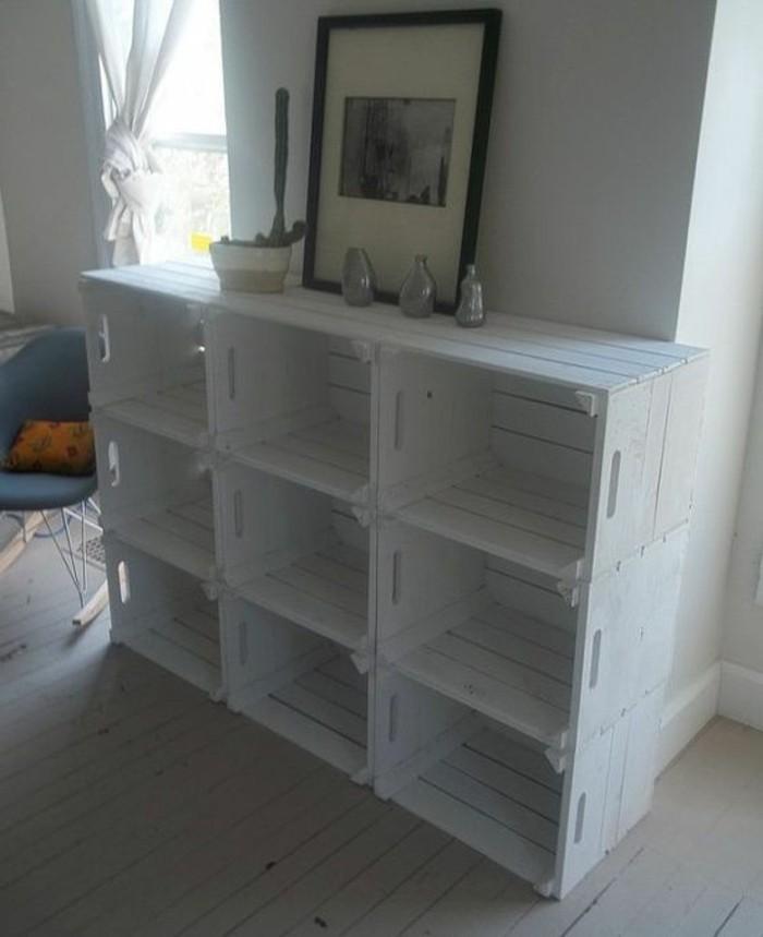 meuble-en-palette-de-bois-blanc-photo