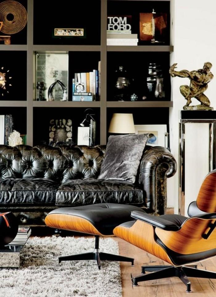 meuble-etagere-canape-en-cuir-capitonne-chaise-ergonomique