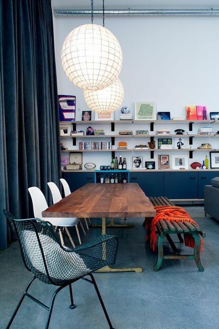 meubles-de-salle-a-manger-banquette-vintage-et-chaises-style-scandinave