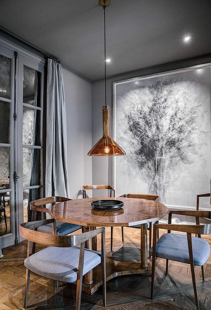 meubles-de-salle-a-manger-chaises-confortables-table-ronde-bois