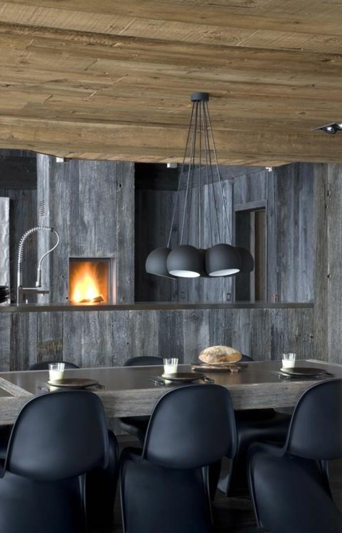 meubles-de-salle-a-manger-chaises-panton-table-couleur-gris-anthracite